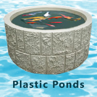 Extra large preformed garden ponds garden ftempo for Plastic garden fish ponds